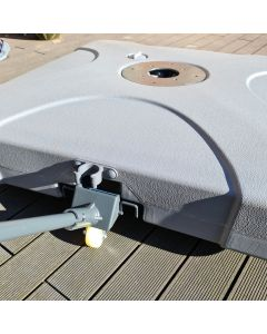 Cantilever Parasol Base - Water or Sand Fillable with Wheels