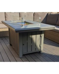 Alabama Rectangular Gas Fire Pit Table