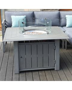 Alabama Square Gas Fire Pit Table