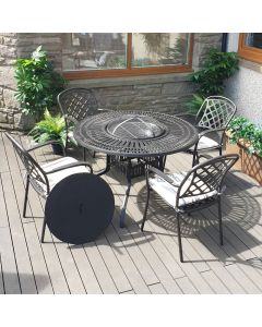 Broxden 4 Wood Burning Fire Pit Set