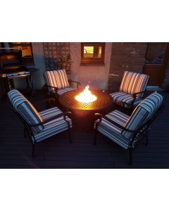 Georgia Lounge Gas Fire Pit Set