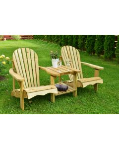 Evlo Double Adirondack Duo Bench