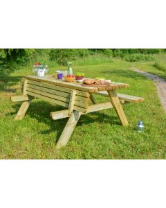 Evlo A Frame Deluxe Picnic Table 177x154x74cm