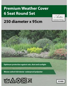 Premium Round 6 Seat Set Weathercover