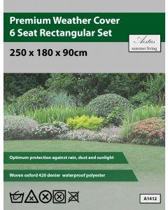 Premium Rectangular 6 Seat Set Weathercover