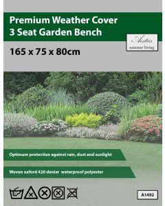 Premium 3 Seat Garden Bench Weathercover